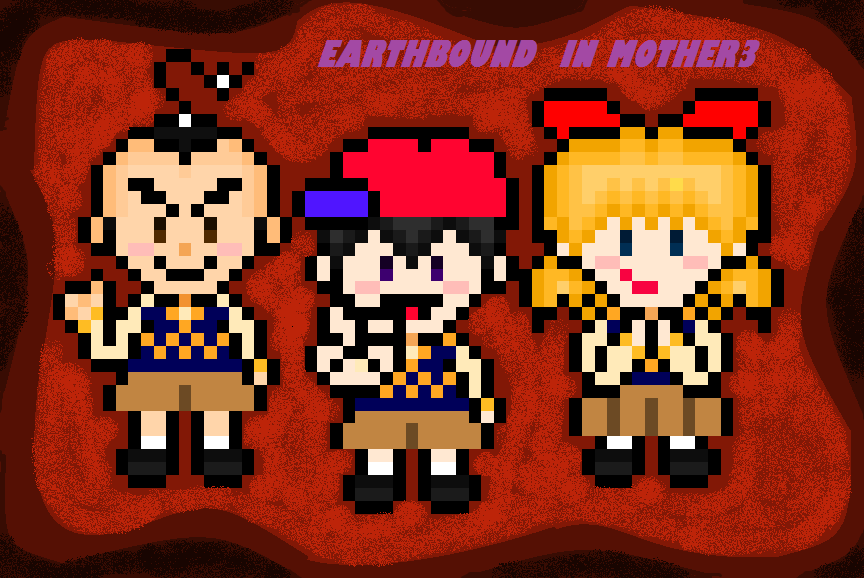 Earthbound In Mother3 (Wallpaper Oficial) 10-14 by chiny369