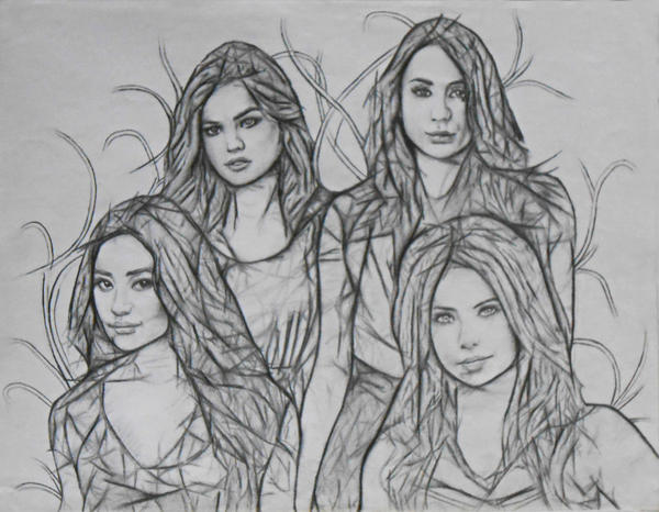 Pretty little liars by ashtwin on deviantart for Pretty little liars coloring pages