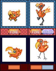 Pokemon Quartz Sprite Revamps by TrainerCord