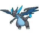 Pokemon X and Y Sprites: Mega Charizard X by KalafeinandFriends