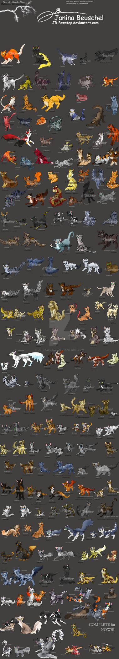Warriors of ThunderClan by JB-Pawstep