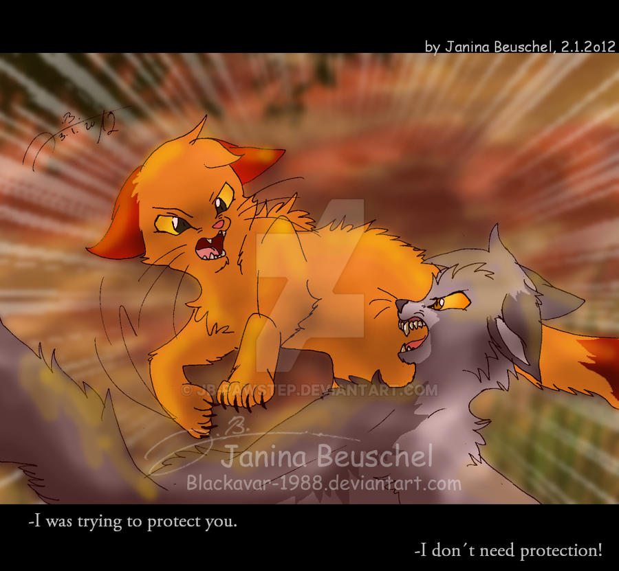 Warriors Fire And Ice Episode 3: Fire And Ice -When Friends Were Fighting By JB-Pawstep On