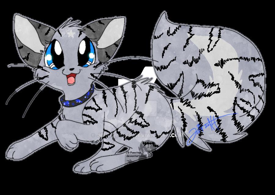Tigerstriped Katinka - Sticker by JB-Pawstep