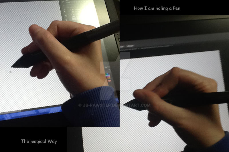 how to correctly hold a pen