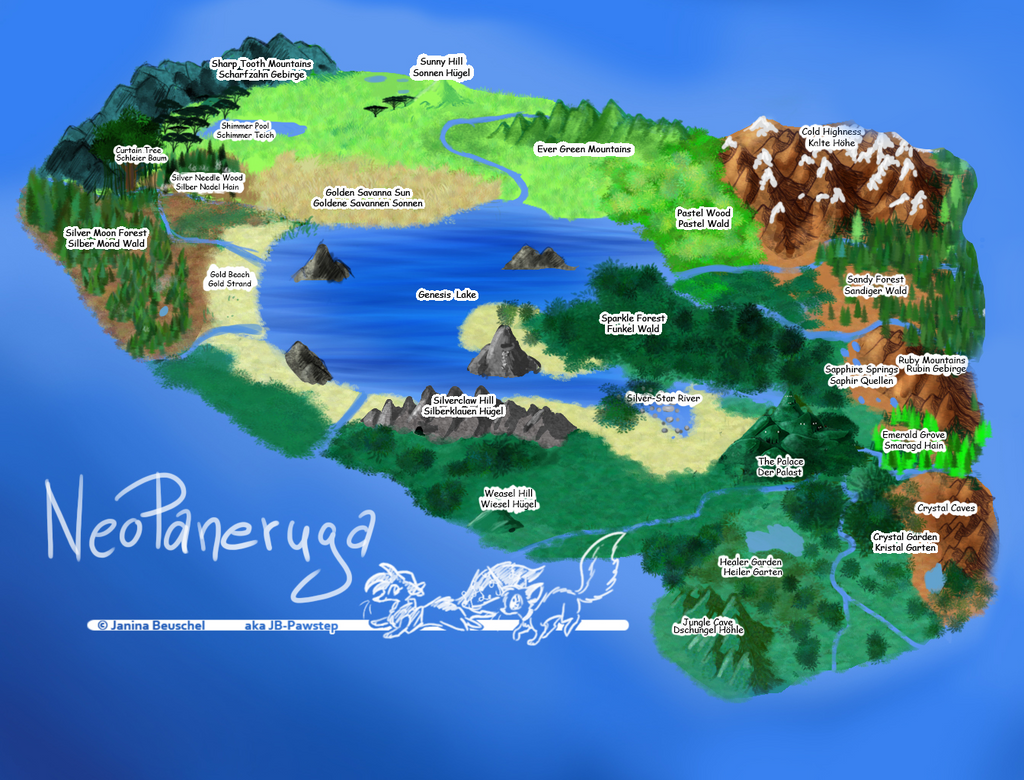 NeoPaneruga Map without winterland png by JB-Pawstep
