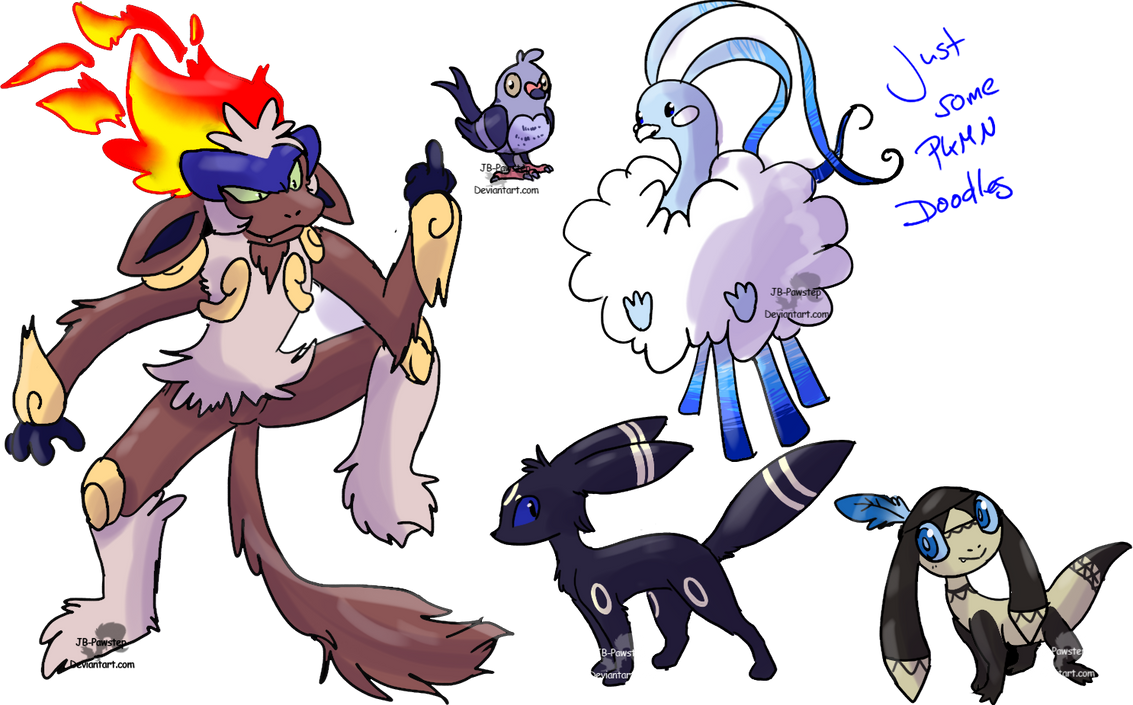 Just some PKMN Doodles by JB-Pawstep