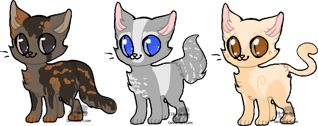 Cat Adoptables - CLOSED by JB-Pawstep