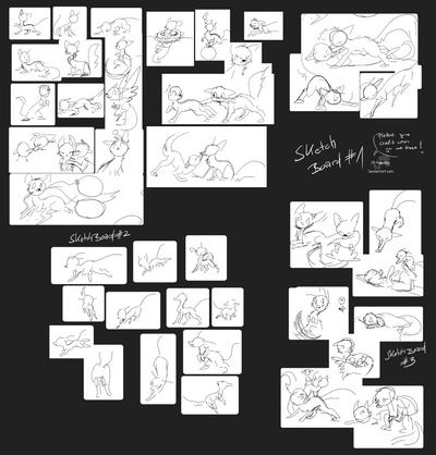 Sketchboard 1-3 by JB-Pawstep
