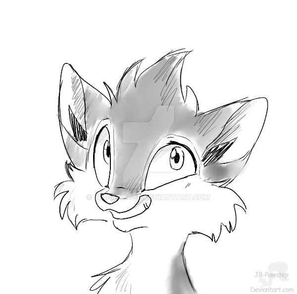 Jan - Headshot sketch Commission by JB-Pawstep