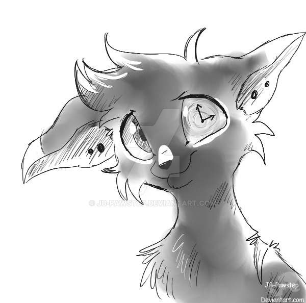 Time - Headshot Sketch Commission by JB-Pawstep