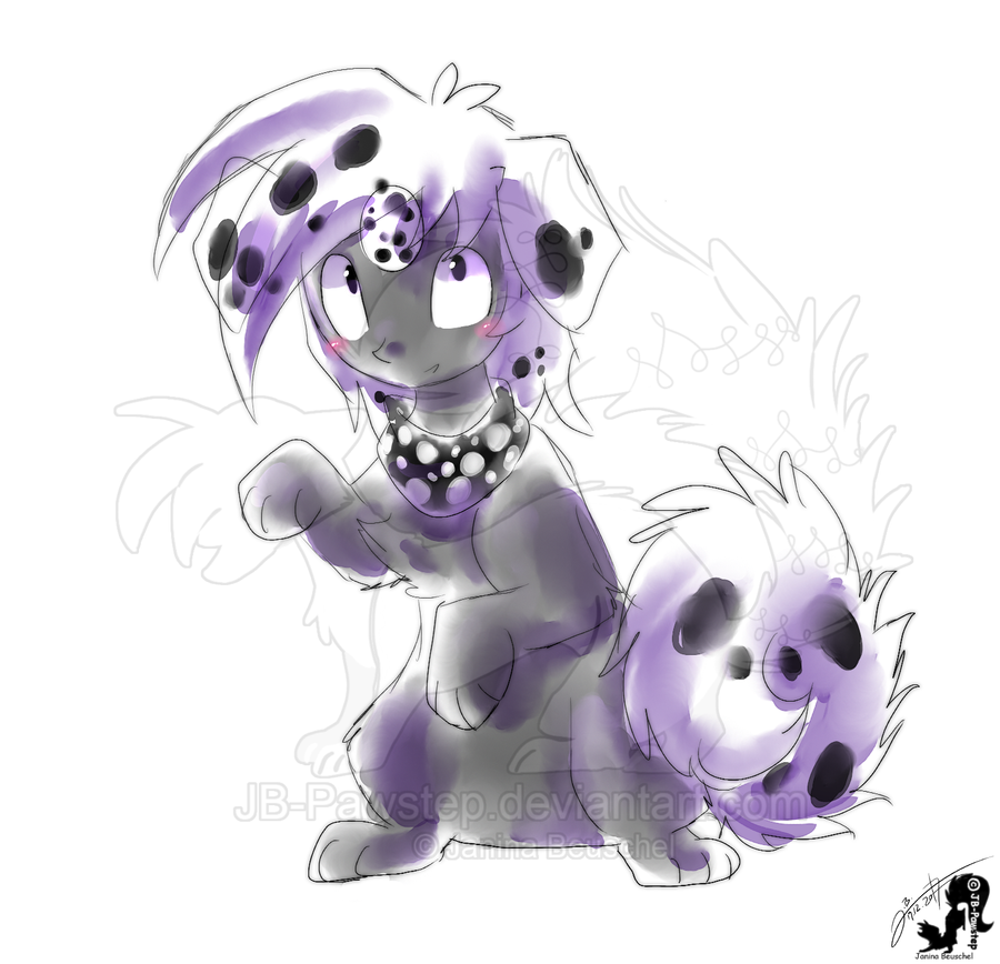Dalmatian - Colored Sketch by JB-Pawstep