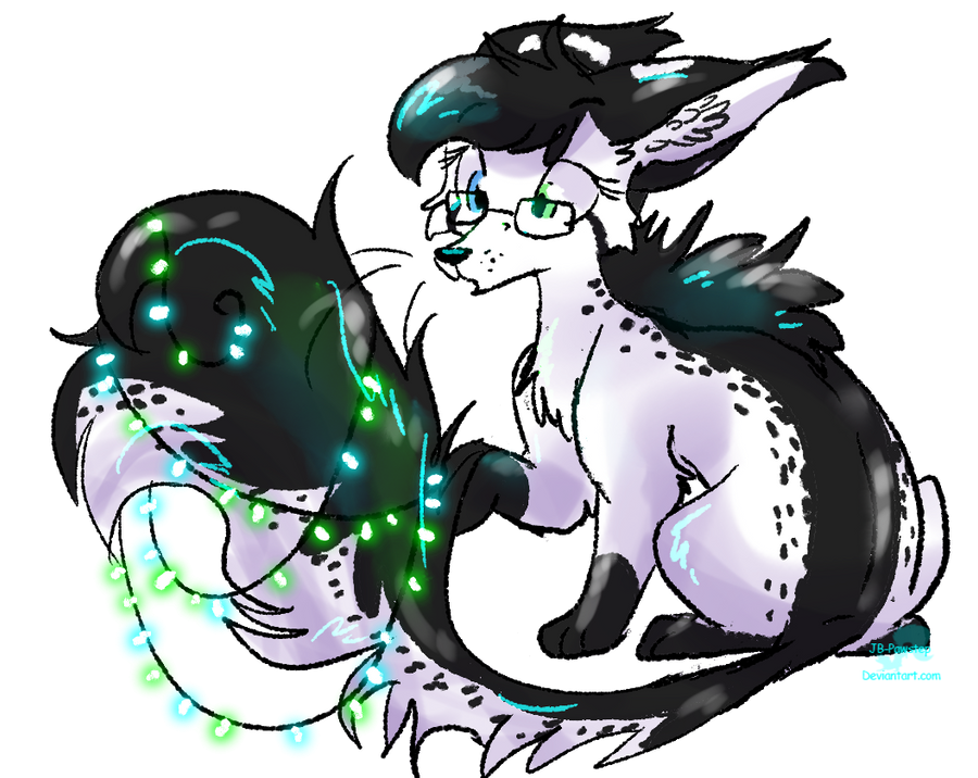 Pretty Lights - Gift for Kitka by JB-Pawstep