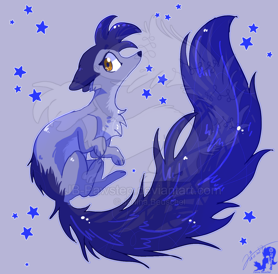 Beautiful blue Weasel by JB-Pawstep