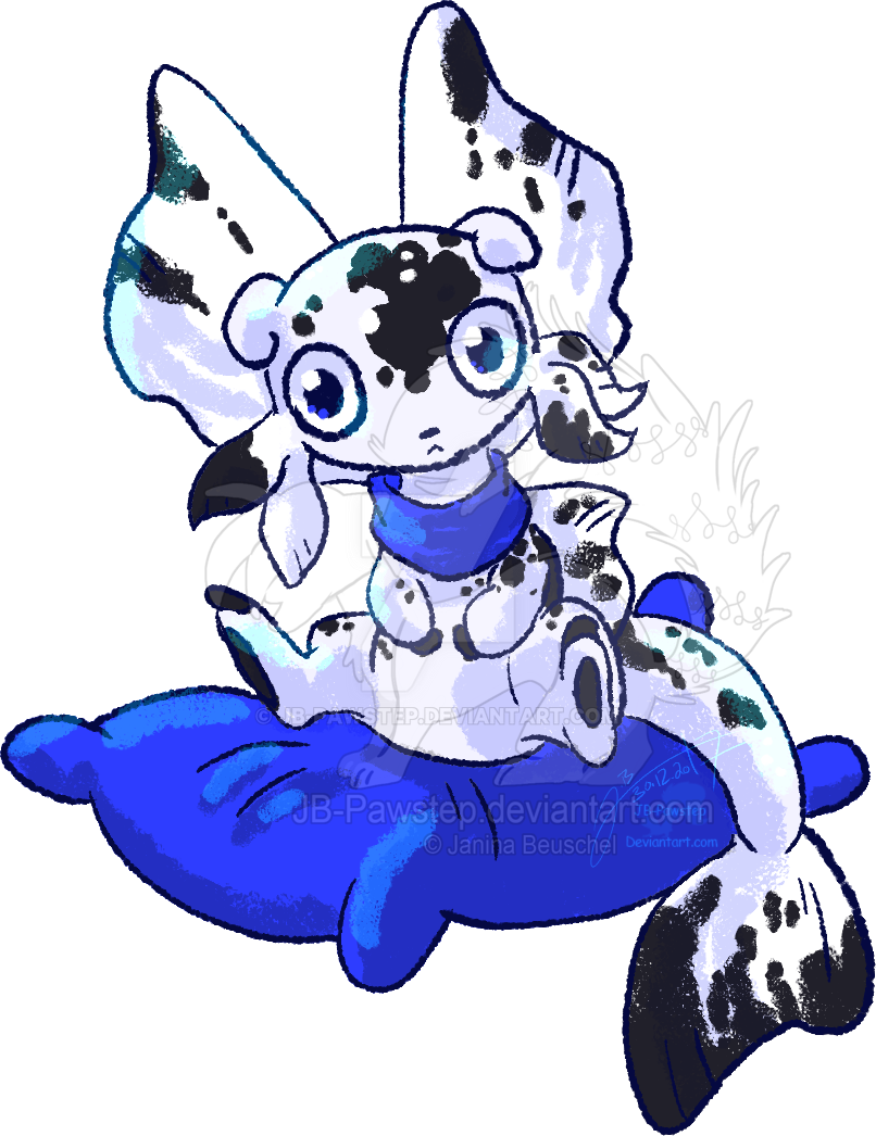 Blue Pillow - Chibi Fisk by JB-Pawstep