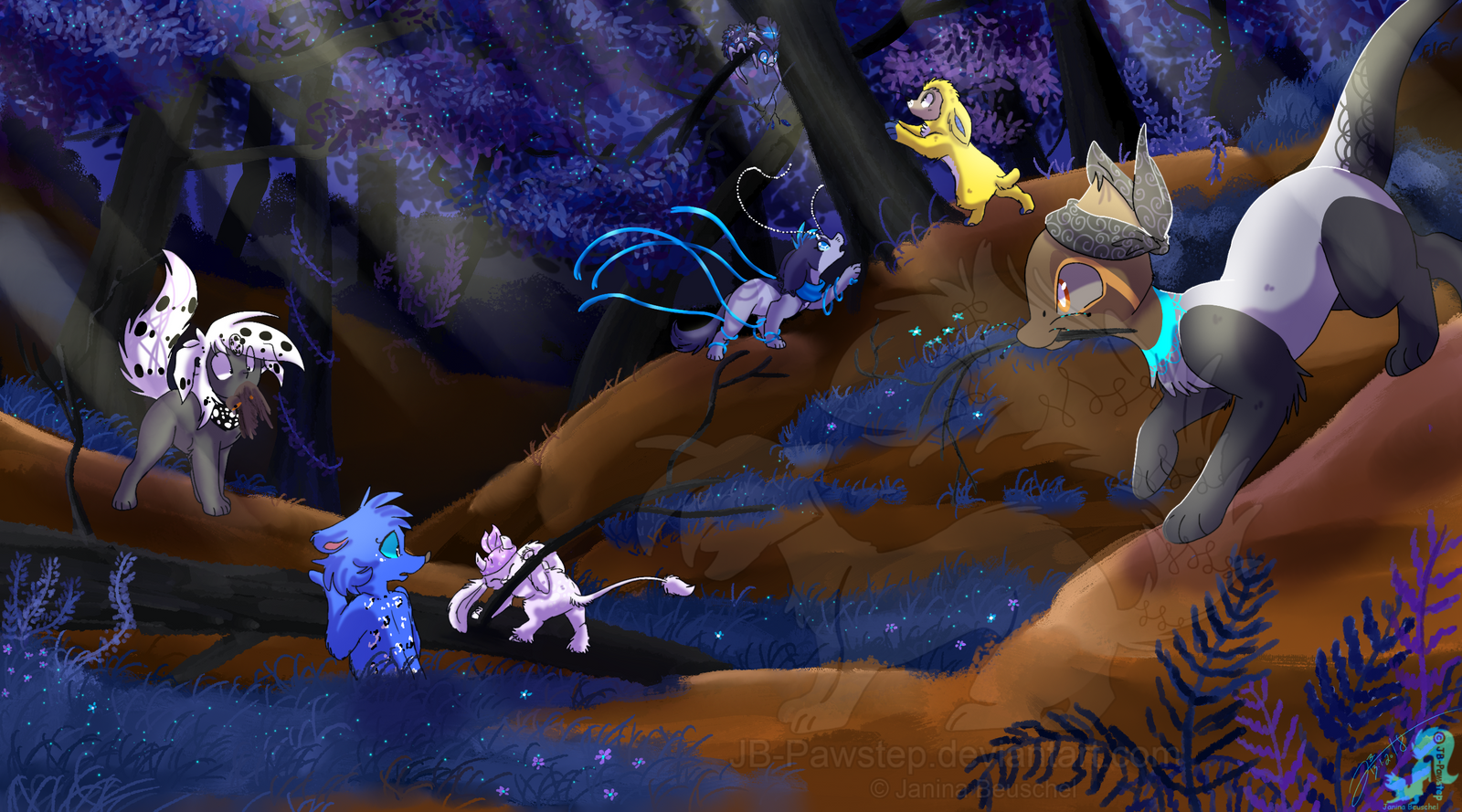 Busy Morning in Twilight Wood by JB-Pawstep
