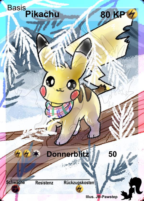 Winter Pikachu - Full Art Card by JB-Pawstep