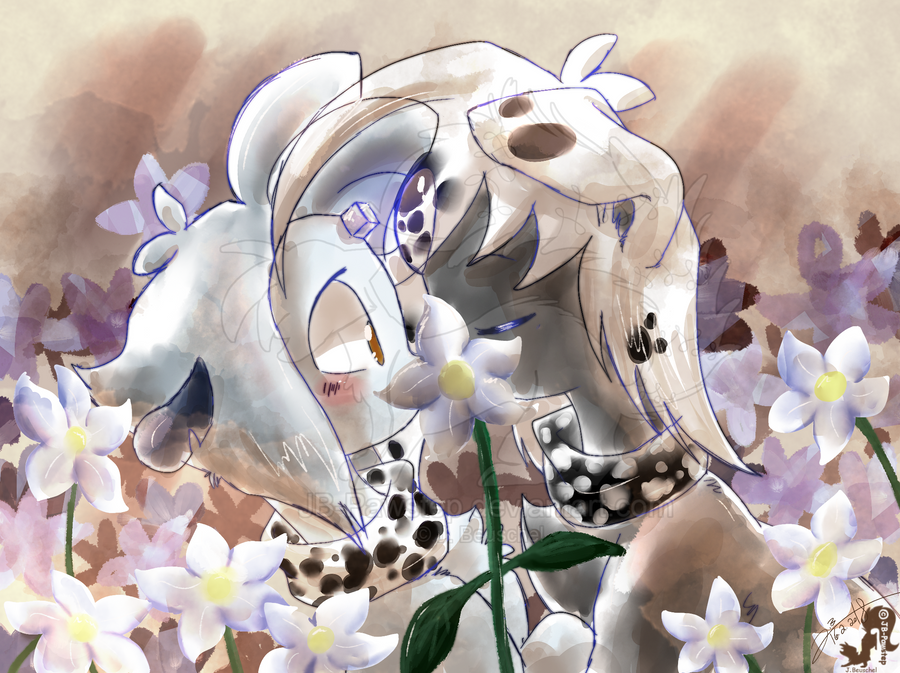 Flowerfield Painting by JB-Pawstep