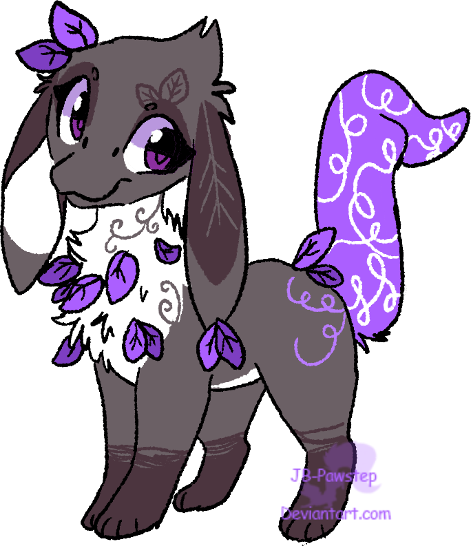 Pahlep Adoptable - Purple Leaves - OPEN by JB-Pawstep