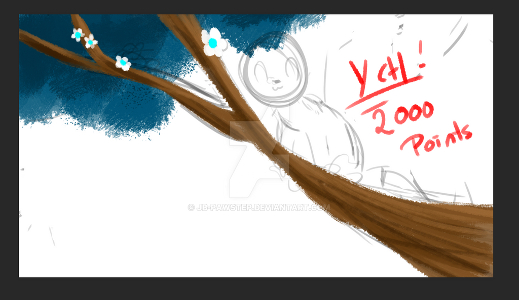 Ych - Oc on Tree Branch by JB-Pawstep