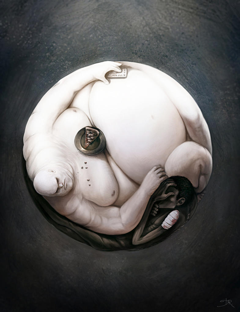 Yin Yang of World Hunger by Deevad