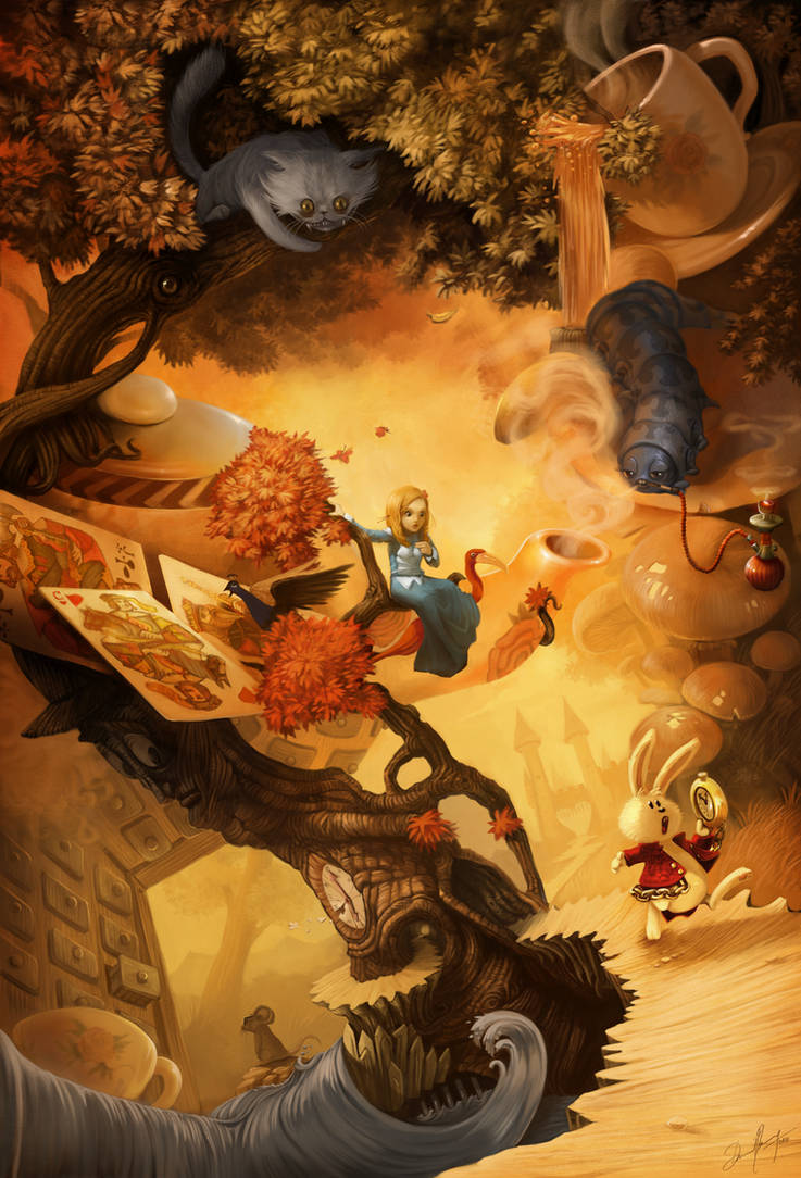 Alice in Wonderland by Deevad