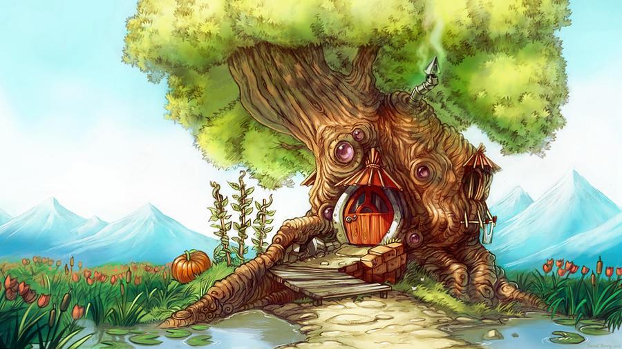 Fantasy Tree House By Deevad
