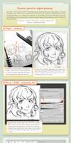 tutorial : pencil to digital painting
