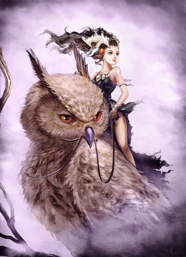 Owl Princess by Deevad