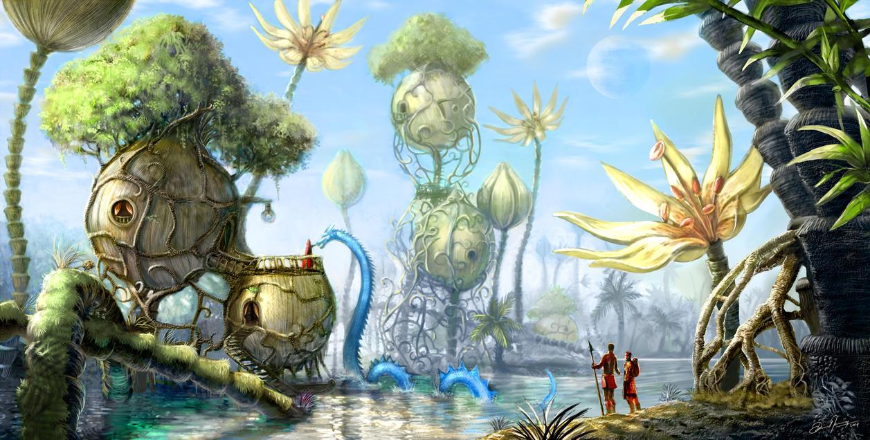 fantasy landscapedeevad on deviantart