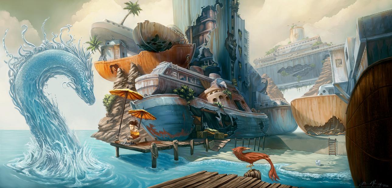 Boat City by Deevad
