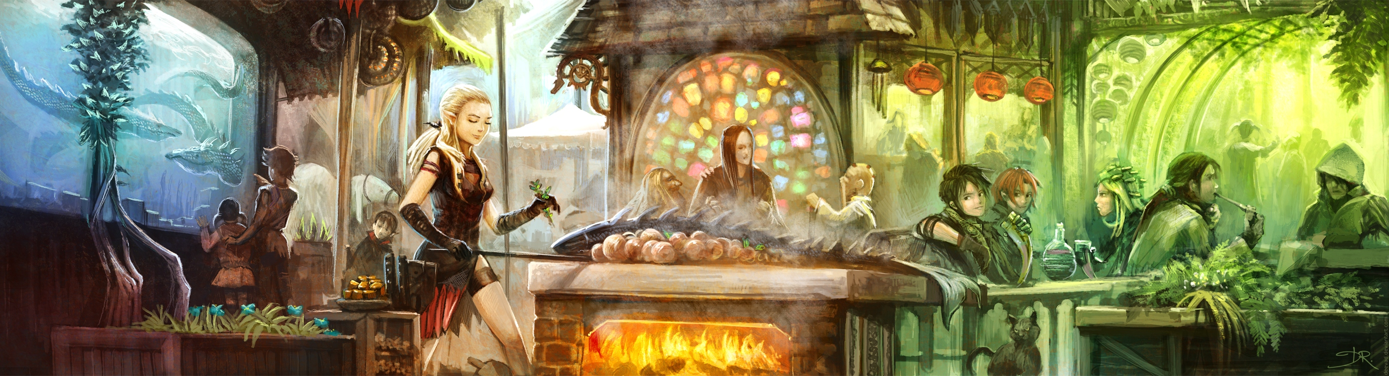 Water-Dragons cooking place