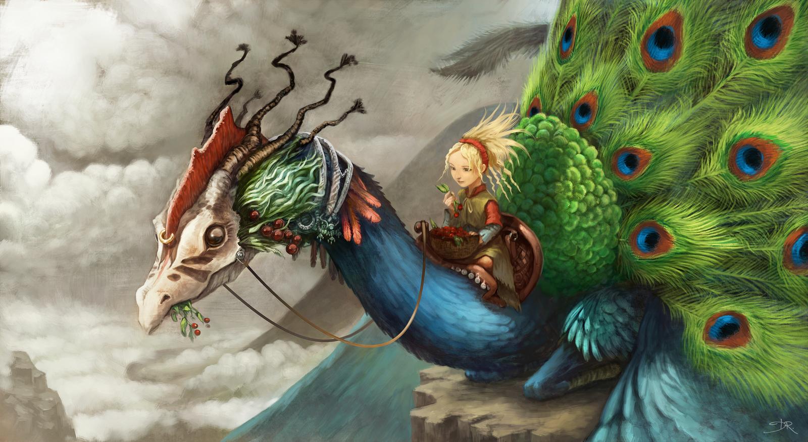 Peacock Dragon by Deevad