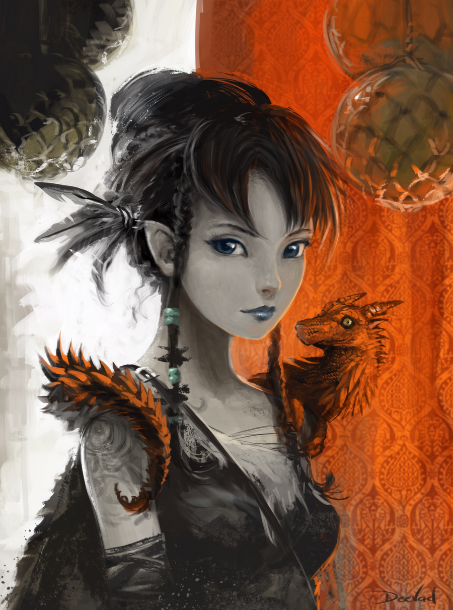 Litchee the dark elf by Deevad