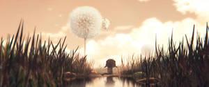 'Dandelion shot' , 3D paint-over by Deevad