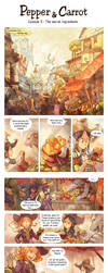 'Pepper and Carrot' Ep 3 : The secret ingredients by Deevad