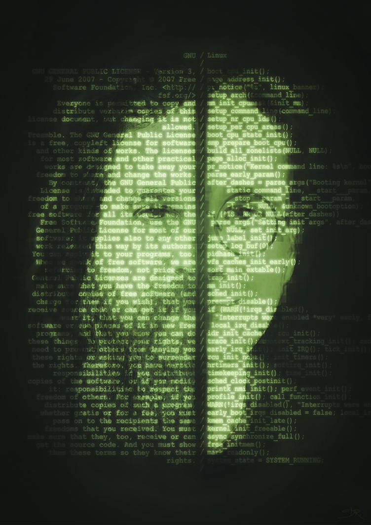 GNU/Linux Portrait by Deevad