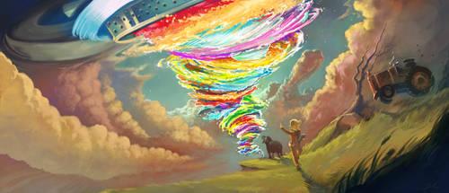 Tornado concept-art - Cosmos Landromat by Deevad