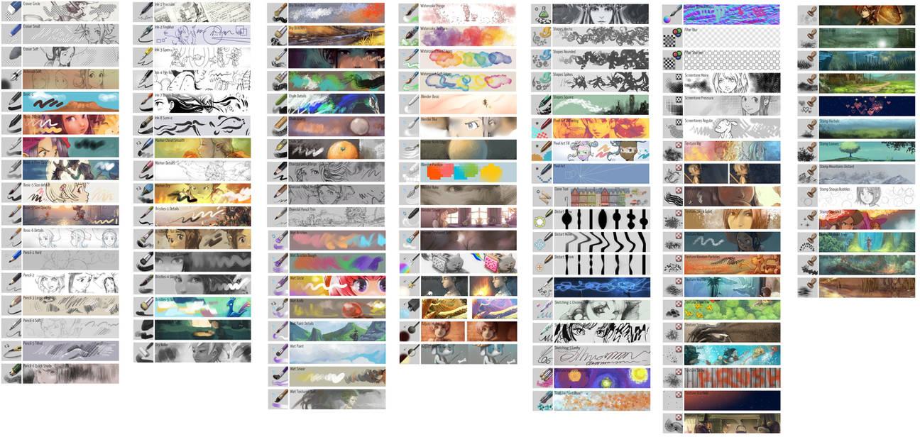 Krita 4 0 default brushes by Deevad on DeviantArt