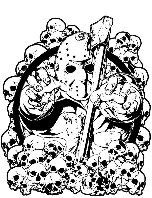 jason voorhees tattoo design by laneamania on deviantart. Black Bedroom Furniture Sets. Home Design Ideas