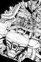 Transformers: Dark Cybertron 01 - Inks Page 4 by curiopraxis