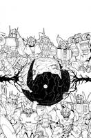 Transformers: Dark Cybertron #1 Sub Cover Inks by curiopraxis