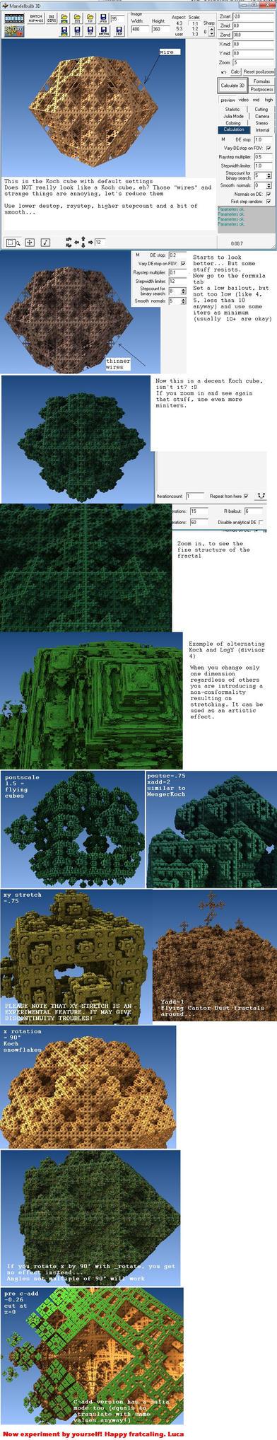 Koch cube minitut by dark-beam