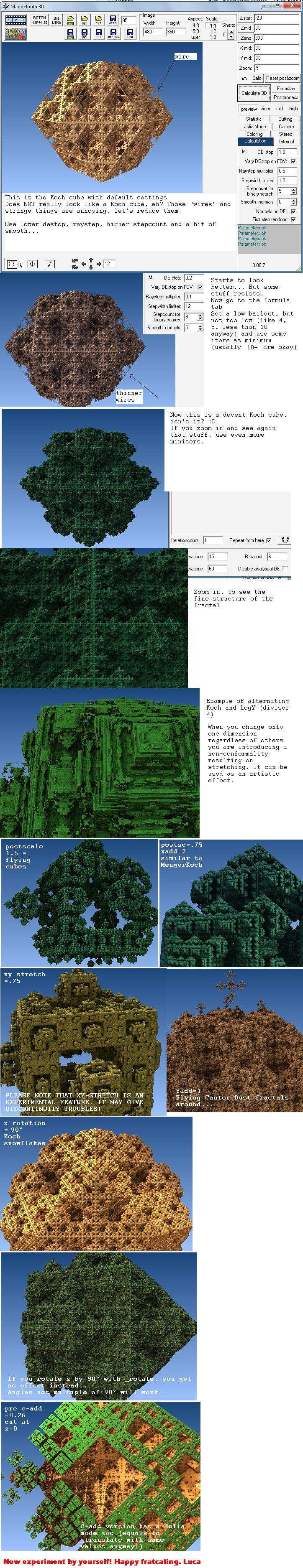Koch cube minitut