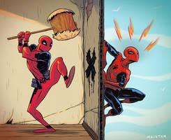 Spidey v Deadpool
