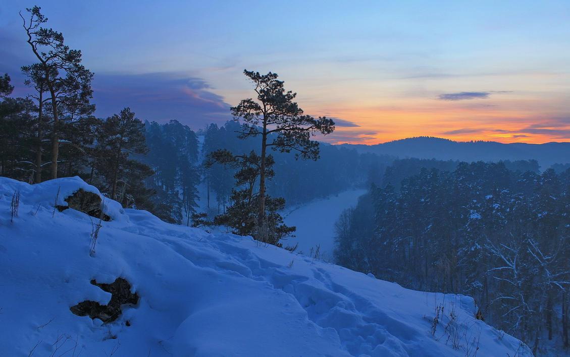 winter Evening by Hudojnica