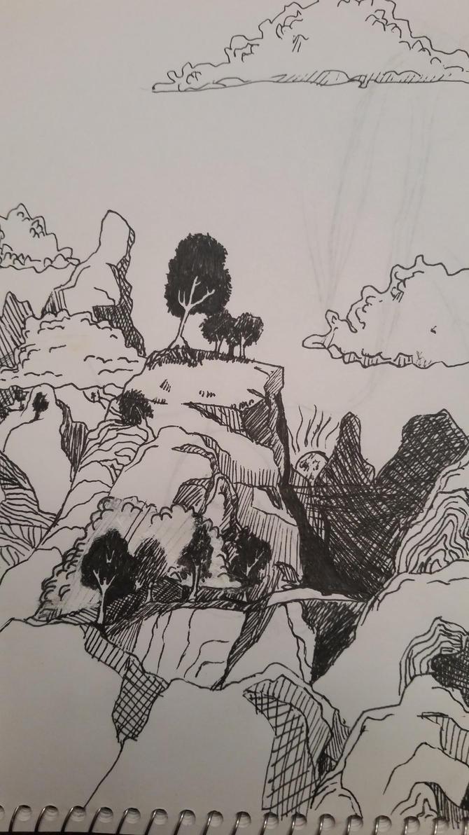 Mountain range by bananograms