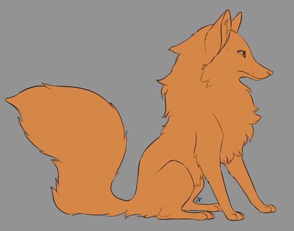 Floofy Fox WIP by flashf0x