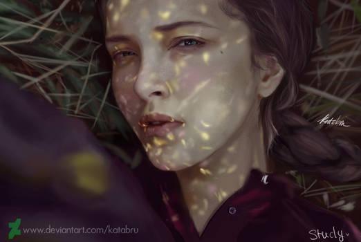 Study light portrait