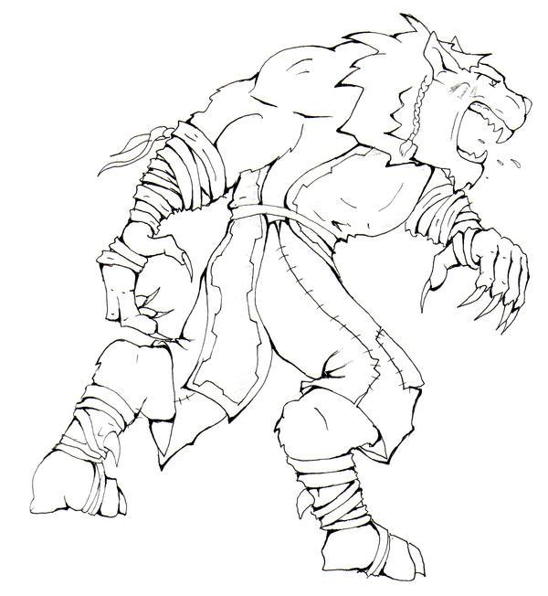 Silverclaw Beast Form by DustyGrafix