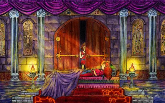 Sleeping Zelda by luluchia
